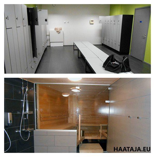 Figure Fitclub Oulu miesten pukuhuone ja sauna