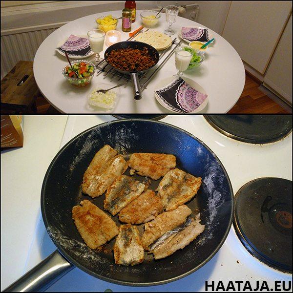 Silakkapihvejä+tortilloja