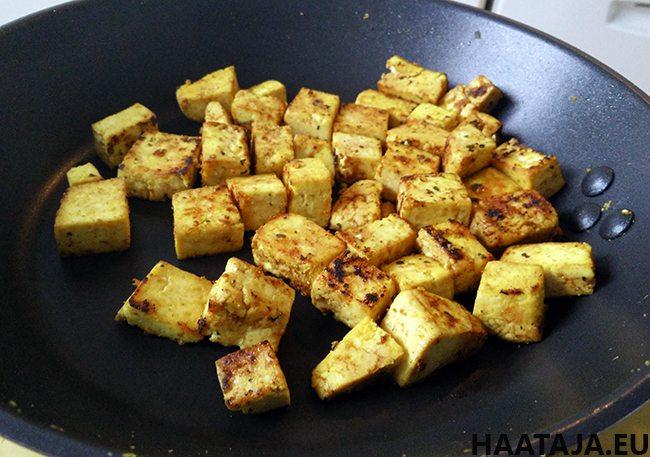Tofun paistaminen