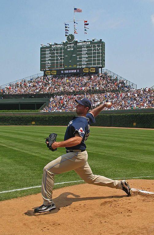Baseball-syöttäjä. Kuva: TonyTheTiger / Wikimedia Commons