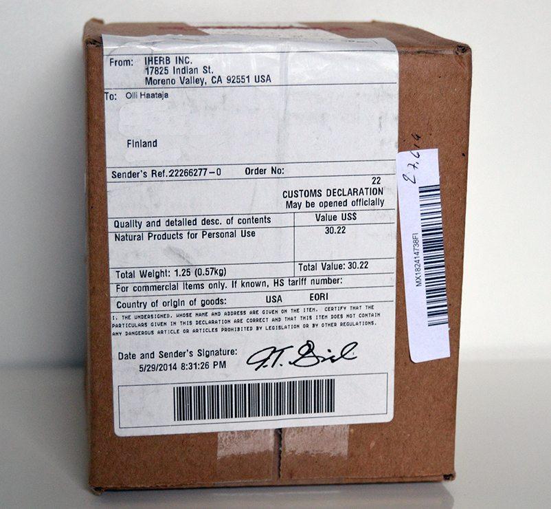 Iherb paketti 1