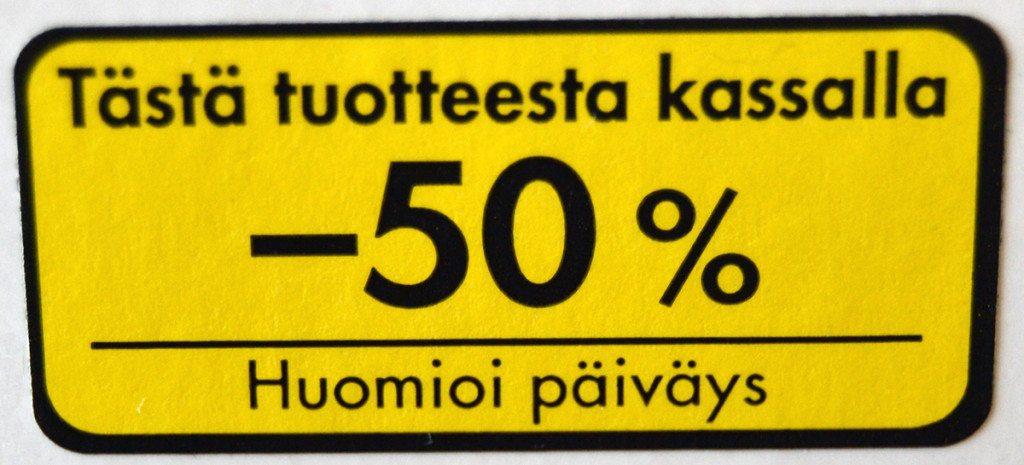 Ruokakuluissa säästäminen onnistuu ostamalla alennustuotteita