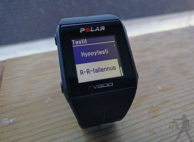 Polar V800:lla voi mitata R-R-intervalleja