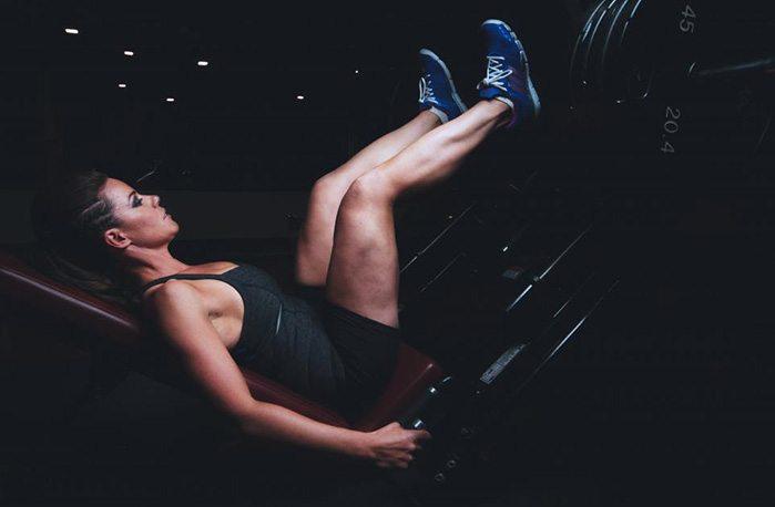 Fitnesstutkimus jalkaprässi